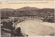 38 - cpa - LES ROCHES DE CONDRIEU - Panorama - Le Rhône et la Chaîne du Pilat