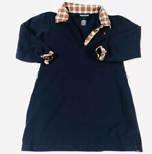 Ralph Lauren Polo Girls Navy BlueDress Sz  4/4T, long sleeve Plaid Collar