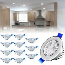 12X 3W SMD LED Spot Einbaustrahler 230V Set Einbau Leuchten Decken Kaltweiß DHL