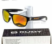 Rudy Project Lifestyle Sunglasses, Sensor Glass Iceblack MLS Orange -SP364038