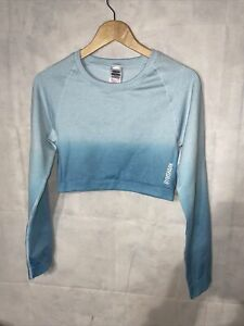 Ladies Gymshark Crop Long Sleeve Top. Used Size XL