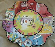NEW Lori Seibert Certified International Decorative Plate CREATE JOY Multicolor