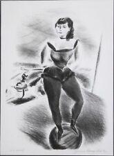 YASUO KUNIYOSHI-Japanese WPA Modernist-Hand Signed LIM.ED Litho-Circus Acrobat