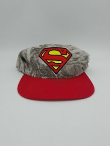 DC Comics Superman Youth One Size Grey And Red Snapback Hat