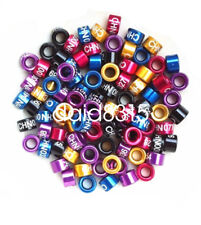 50pcs size 2 to 14mm colors Identification Canaries Bird Rings Canary aluminium