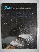 Vintage 1973 Bajo Fender CATÁLOGO FOLLETO 68 páginas A4, fotos de color de alta calidad,