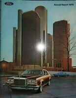 1976 Ford Annual Report Brochure