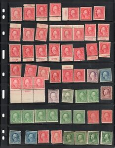 Large Lot of MINT wash/Frank stamps CV approx $1500.00