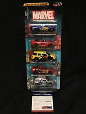 Stan Lee Signed 2002 Maisto 5 Pack Cars Marvel Spiderman Silver Surfer + PSA/DNA