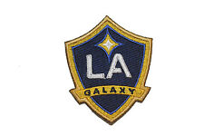 LA GALAXY MLS SOCCER EMBROIRERED IRON-ON PATCH CREST BADGE 2 3/4 X 3 1/4 INCHES