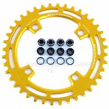 FOURIERS CNC Single Narrow Wide Chainring P.C.D 104mm 40T For SHIMANO , Gold