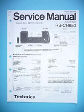 Service MANUAL-INSTRUCTIONS FOR TECHNICS rs-ch950, Original