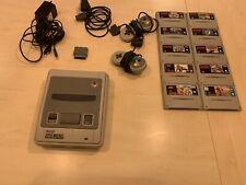 Super Nintendo Entertainment System SNES mit 2 Controllern Und 10 Spielen