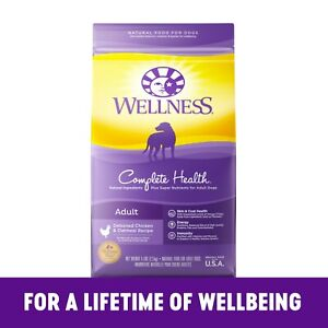 Wellness Complete Health Natural Dry Dog Food Chicken - Oatmeal 30 lbs
