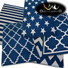 AMAZING THICK MODERN RUGS SKETCH BLUE WHITE 6 Pattern LARGE SIZE BEST-CARPETS