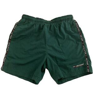 VTG 90'S Tommy Hilfiger Swim Trunks Swimwear Board Shorts Lined Sz L Spell Out