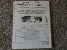 New listing Marantz Cx-560 8 Track Cassette Stereo Original Service Repair Manual