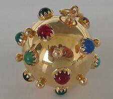 Edelsteinanhänger mit Halbedelsteinen in aus 18 Kt. 750 Gold pendant