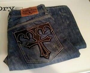 •*Official*• Affliction • Denim Killers •  Men's 👖 jeans • 36w/34i • # RN121895