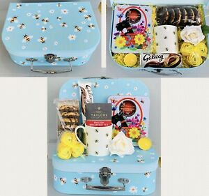LADIES HONEY BEE AFTERNOON TEA PAMPER HAMPER GIFT BOX SET HER BIRTHDAY FRIEND