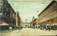 Oakland, CA 1910 Postcard: Washington Street/Downtown - California Cal