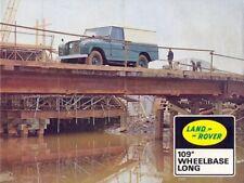 LAND ROVER SERIES-IIA '88' & '109' RETRO POSTER BROCHURE CLASSIC ADVERT A3 !!!!!