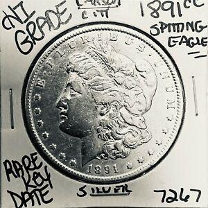 1891 CC MORGAN SILVER DOLLAR HI GRADE GENUINE U.S. MINT RARE KEY COIN 7267