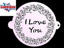 """Brand New Stencil For Cakes Craft etc """"I Love You"""" 20.5cm Dia"""
