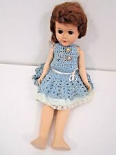 "Vintage 10"" Hard Plastic Doll Jointed Marked P & M"