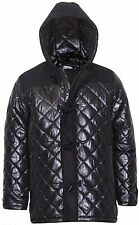 Mens hooded Quilted duffle coat Jacket Size UK Small  End Of Line Clearance