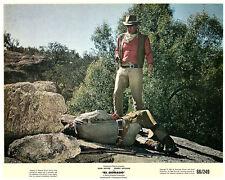 EL DORADO JOHN WAYNE WITH GUN COLOR ORIGINAL US 8X10 LOBBY CARD 1966