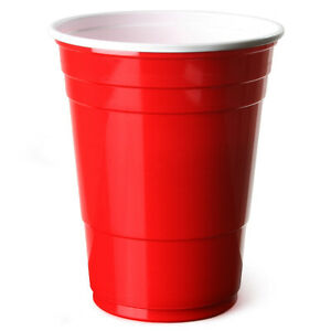 Red American Party Frat Cups Beer Pong Strong Disposable 16oz x 50