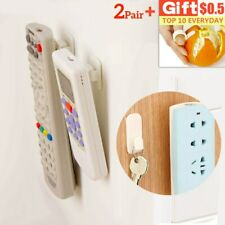 2Set Storage Stand Self Adhesive Plastic Hooks Key Remote Wall Mounted Holder