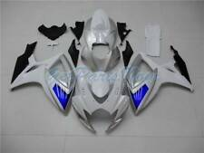 Fit for 06-07 Suzuki GSXR 600 750 Injection White Blue Silver Fairing ABS e06