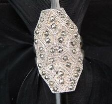 Cocktail Ring Band Size 6.5 Stunning Large Estate Sterling Silver Marcasite