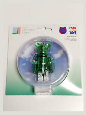 MEDICOM TOY TOKYO SKY TREE TOWN 100% BE@RBRICK Metallic Green Phone Strap
