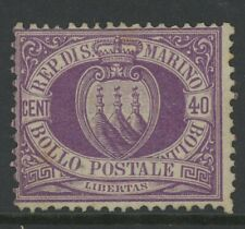 SAN MARINO, MINT, #17, NG, TYPICAL CENTERING
