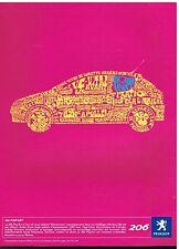 Publicité Advertising 2005 Peugeot 206 pop'art