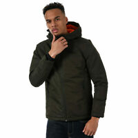 Mens Jack & Jones Barkley Jacket In Khaki- Zip Fastening- Hooded With External