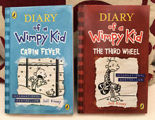 Jeff Kinney Diary Of A Wimpy Kid 2 Paperback Books Cabin Fever & The Third Wheel