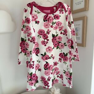 Joules White Flower Long Sleeve Detail Dress 2-3yrs RRP £39.95 Party Wedding