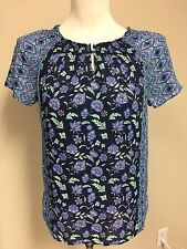 TALBOTS Women's Print Top Size XS  ~ New With Tag