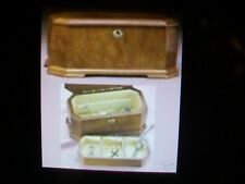 Jewelry Box - Burled Wood  - Franklin Mint - New in Box