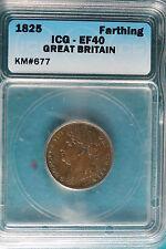 1825 ICG EF40 Great Britain Farthing KM#677!! #B5034