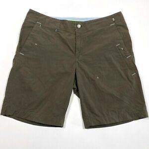 REI Coffee Brown Hiking Shorts 5-pocket UPF 50+ Camping Womens 12 EUC