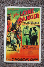 The Lone Ranger Episode 2 Lobby Card Movie Poster Thundering Earth
