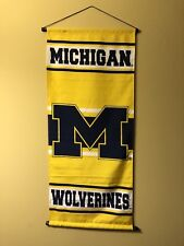 Michigan Wolverines House Banner Flag! Michigan College Sports Banner! 18� X 42�