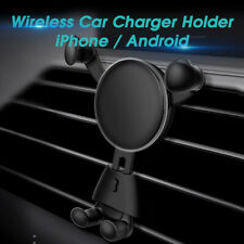 Car Vehicle Quick Fast Wireless Charger Air Vent Mount Smart Phone Holder