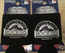 MLB Colorado Rockies Can Holder Bottle Cooler Koozie lot of 2