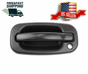 New Door Handle Outside Exterior Black Front Driver Side Left LH For Chevy GMC